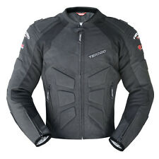 Teknic Mercury Summer Perforated Leather Jacket Motorbike Vented Black $399.95