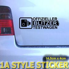 Blitzer Testwagen Aufkleber Blitzer auto radar tüv Fun Sticker Tickethalter  300