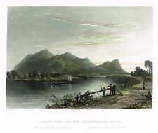"""Bartlett H-Col. Eng. - """"MOUNT TOM AND THE CONNECTICUT RIVER"""" - c1838"""