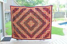 Antique Primitive Log Cabin Quilt