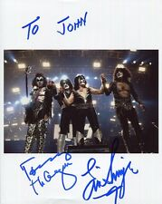 TOMMY THAYER+ERIC SINGER HAND SIGNED 8x10 COLOR PHOTO+COA       KISS     TO JOHN