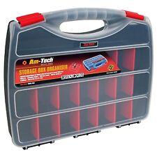 PRO 380mm Plastic Storage Box Case Organiser Assorted Compartments Screw Bits UK
