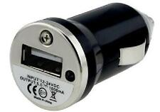 BLACK USB CAR TRAVEL CIGARETTE CHARGER BULLET 1000mAh FOR IPOD IPHONE SAMSUNG