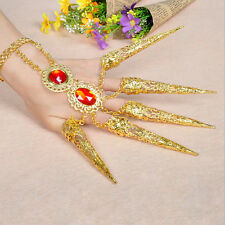 New Girl's Women's Dancing Belly Dance Finger Indian Thai Golden Finger Jewelry