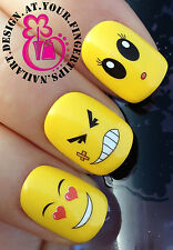 NAIL ART WRAP WATER TRANSFER DECALS STICKERS DECORATION SET EMOJI SMILEYS #91