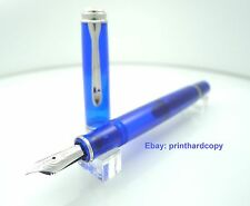 Pelikan Special Edition M605 Marine Blue Demonstrator Fountain Pen 14K NIB