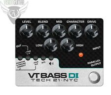 NEW! Tech 21 Character Series VT BASS DI - Bass Preamp (CS-VTB-DI)