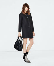 MAJE GRACE WOOL AND NEOPRENE COAT