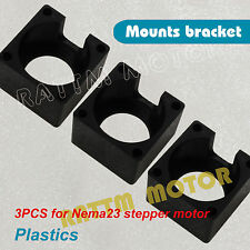 3Pcs Plastic Nema23 Stepper Motor Mount Bracket Clamp Support Kit for CNC Router