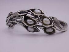 wunderschöner Perli Armreif Silber 835 punziert Perle #aPE2