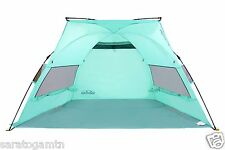 Saratoga Beach Tent Instant Pop Up Portable Canopy Sun Shelter Popup Large Blue
