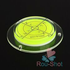 One 80x60x12mm Green Disc Bubble Spirit Level Round Circle For Measuring