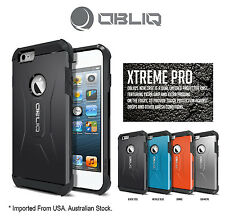 Genuine Obliq Xtreme Pro Bumper Shock Scratch  iPhone 6 4.7 Case Cover Black