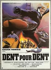 Affiche DENT POUR DENT Eye for an eye CHUCK NORRIS Christopher Lee 40x60cm *