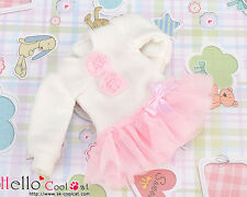 ☆╮Cool Cat╭☆277.【NK-03N】Blythe Pullip Lovely Clothes(Puffed Sleeves)# White