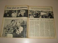 MARILYN MONROE clipping ritaglio articolo foto photo=ANNI '50=31