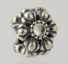 NEW Retired Pandora Birthday Bloom Charm - Sterling Silver April 790580BK Bead