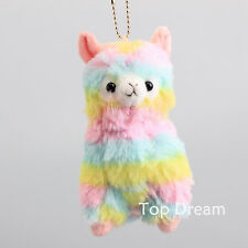 "Cute Rainbow Alpacasso Kawaii Alpaca Llama Arpakasso Soft Plush Toy Doll 5"" Gift"