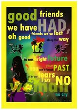 BOB MARLEY - NO WOMAN NO CRY - LYRIC ART - A3 PRINT