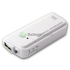 USB White Universal Emergency Portable 2AA Battery Extender Backup Power Charger