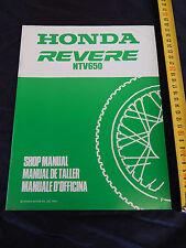 SUPPLEMENTO MANUALE OFFICINA HONDA NTV 650 REVERE 1992 MANUAL REPAIR