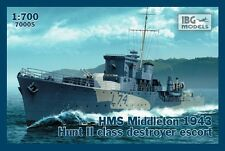 HMS MIDDLETON 1943 - WW II ROYAL NAVY HUNT II-CLASS DESTROYER 1/700 IBG