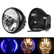 "7"" LED Projector Halogen Motorcycle Halo Blinker Turn Signal Headlight 4 Harley"