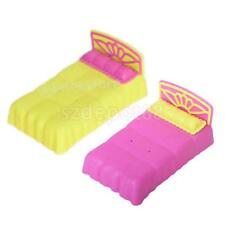1pc Bedroom Furniture Mini Plastic Bed for Barbie Little Sister Krissy Doll