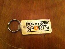 Distressed white keychain Play It Again Sports  Sporting Goods RARE Key Chain
