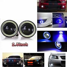 DRL Projector Lens Angel Eye COB Halo Ring Blue LED Fog Driving Light SUV LIGHT