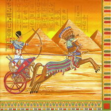 4x Single Table Party Paper Napkins for Decoupage Decopatch Craft Ancient Egypt