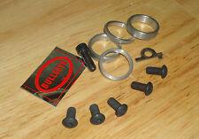 nos OLDSCHOOL BMX Bullseye cranks fastener kit cw vdc vintage freestyler gt tnt