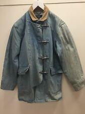 Polo Ralph Lauren Vtg Early 90s Fireman Metal Clasp Chore Denim Jacket M RRL
