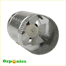 "INLINE VENTILATING EXHAUST FAN 4""/100MM 12W HYDROPONICS DUCT VENT BLOWER"