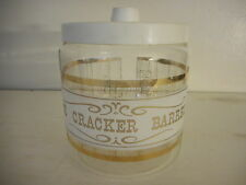 Pyrex Clear Glass Counter Display Jar w/ Lid - The Cracker Barrel - Made 1960s