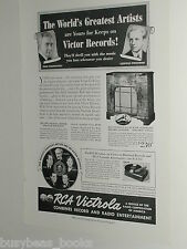 1939 RCA Victrola ad, U-130 record player