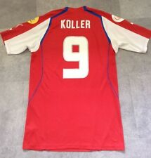 CZECH REP FOOTBALL SHIRT KOLLER 9 PUMA SIZE M MATERIAL CLICKS & THREAD PULL
