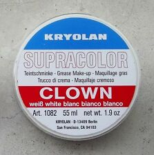 KRYOLAN SUPRACOLOR BIANCO CLOWN 55 ml 80 gr white cialda trucco teatrale