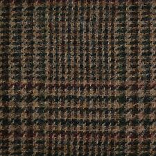 Sand with Dark Brown & Green Plaid Check Tweed - 2.50 Mtrs