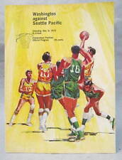 Dec. 1972  SEATTLE PACIFIC at WASHINGTON HUSKIES basketball program
