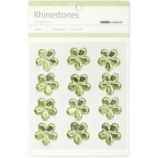 "**BRAND NEW** Kaiser Craft Mint Flower Rhinestones"" 12 per Pack SB742"