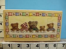 Stamps happen teddy bears one paw two paw quilted border rubber stamp 2A