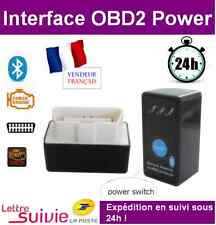 Interface POWER SWITCH BLUETOOTH OBD2 OBDII Scanner ELM 327 DIAGNOSTIQUE VAGCOM