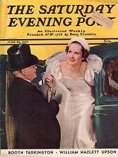 1937 Saturday Evening Post June 26-Booth Tarkington;Allan Swinton; Tuba Player