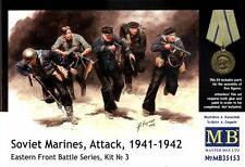 1/35 Soviet Marines Attack 1941-42 figure (5) set by Master Box 35153