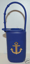 BATH & BODY WORKS BLUE GOLD ANCHOR TRAVEL SIZE BODY LOTION HOLDER SLEEVE CARRIER