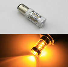 2pcs 80W bau15s  Cree XBD LED Bulb High Power Turn Signal Backup Light  Amber