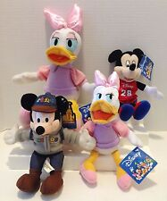 DISNEY LOT OF 4 PLUSHES DAISY DUCK AND MICKEY MOUSE WITH TAGS
