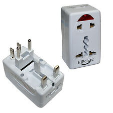 WORLD UNIVERSAL TRAVEL ADAPTOR UK EU AU USA AND OTHERS 13A UK PLUG