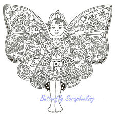 FAIRY Animal Spirit Cling Unmounted Rubber Stamp EARTH ART Sue Coccia New